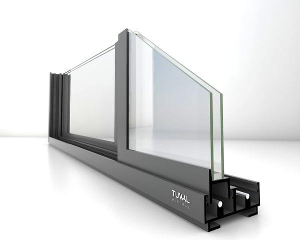 פרופיל ברזל לחלון בלגי לפתיחה בהזזה של תובל מיננימל