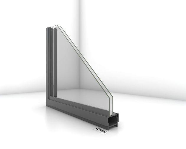 פרופיל בלגי מברזל רחב במיוחד לזכוכית בידודית תרמית של תובל מינימל