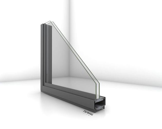 פרופיל בלגי מברזל עם נתק תרמי לחלון בלגי מבודד של תובל מינימל