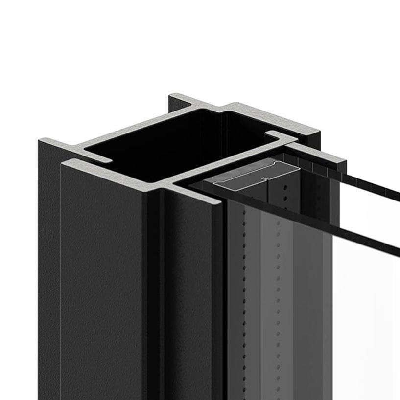 פרופיל ברזל W40 לחלון ברזל בלגי מינימליסטי של תובל מינימל