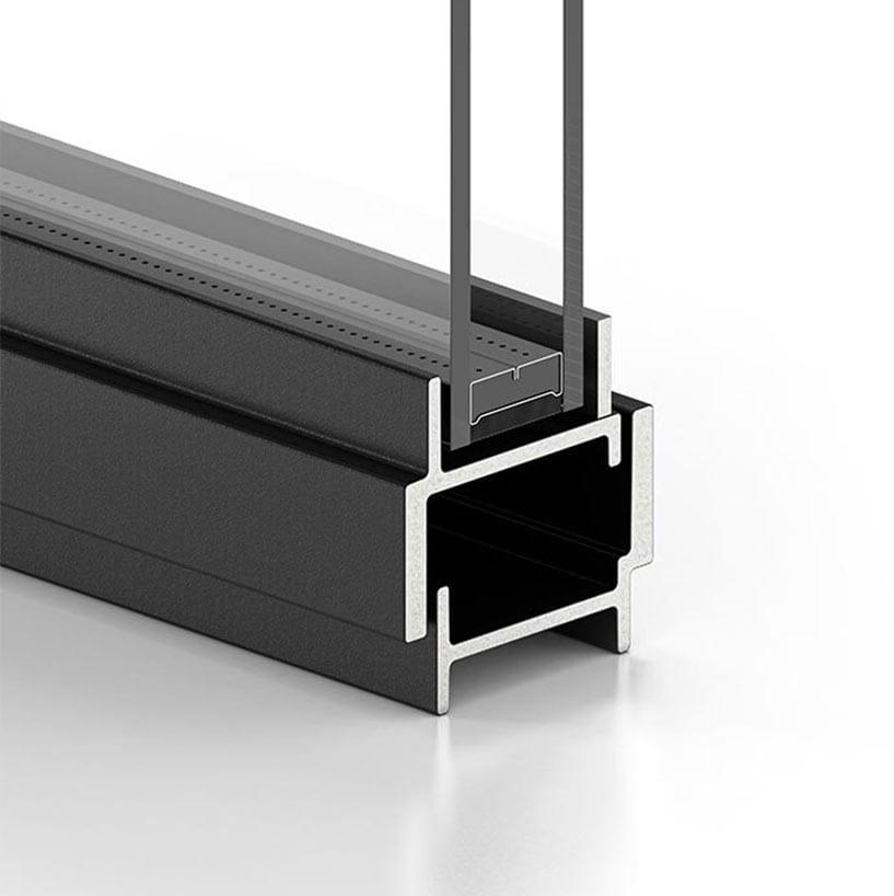 פרופיל W40 פרופיל בלגי ברזל לחלון מבודד תרמי. חלון מעוצב עם בידוד תרמי של תובל מינימל