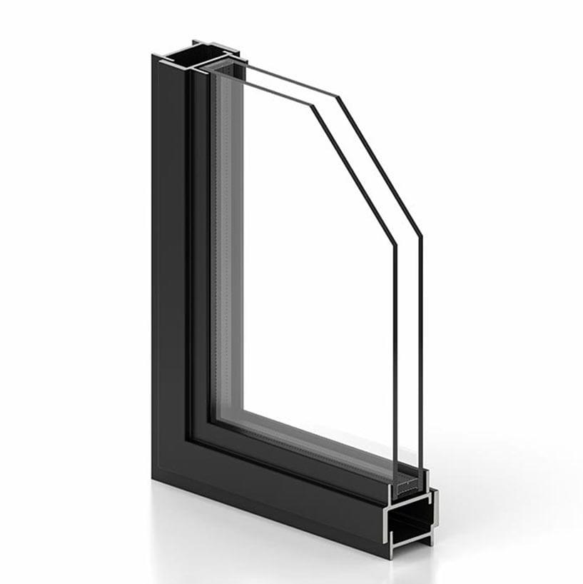 פרופיל ברזל W30 לחלון בלגי ברזל מתאים לחלון בלגי מבודד עם בידוד תרמי של תובל מינימל