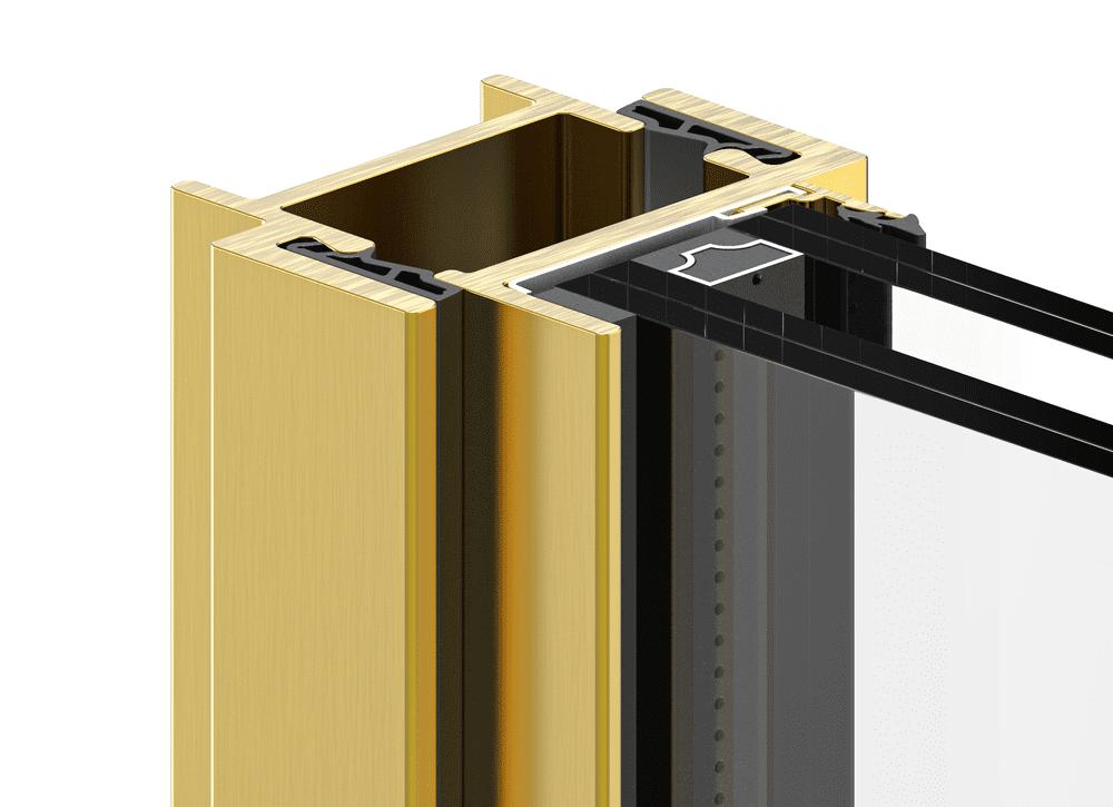 פרופיל ברזל ברונזה לחלון בלגי ברזל יוקרתי בגימור ברונזה בצבע זהוב שחום לבחירה | תובל מינימל