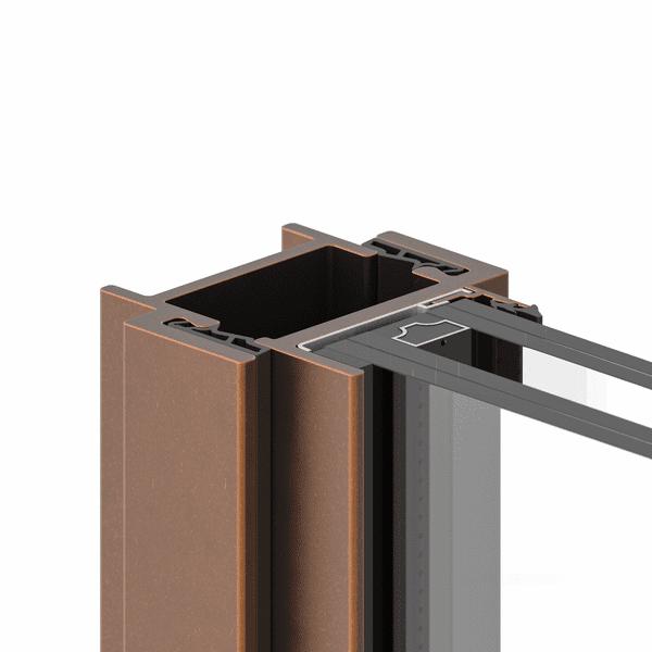 פרופיל ברזל ברונזה לחלון בלגי ברזל לחלון מעוצב . פרופיל לחלון ברונזה יוקרתי ללא חלודה של תובל מינימל