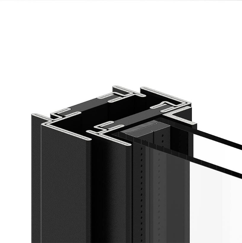 פרופיל W50 מתאים לחלון בלגי ברזל מבודד של תובל מינימל