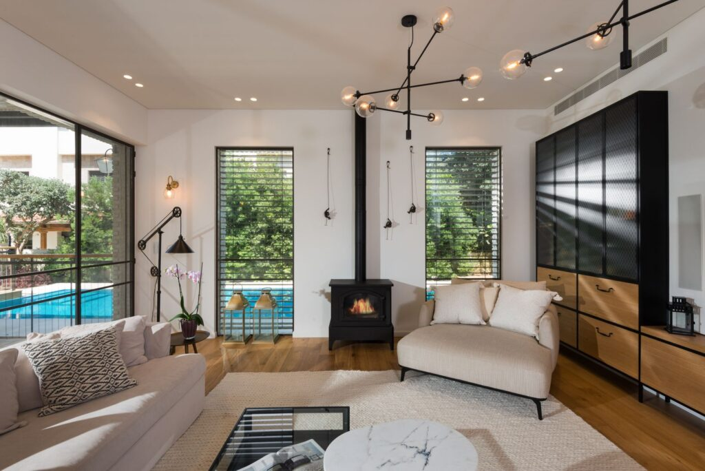 Steel Windows and Doors with acoustic glasses for noise reduction